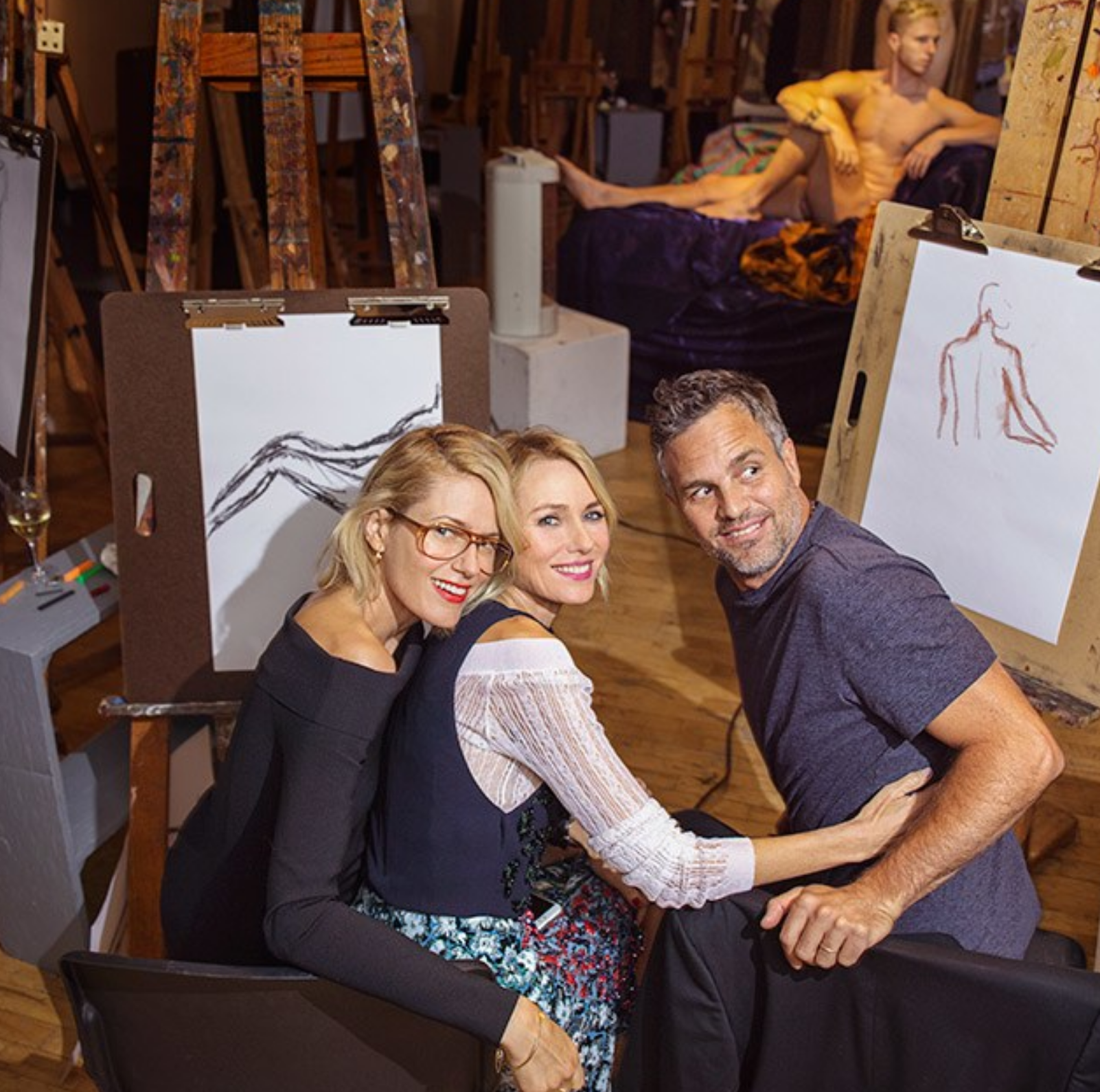 See Naomi Watts, Mark Ruffalo, and a Few Nudes at a New York Academy of Art Fund-Raiser