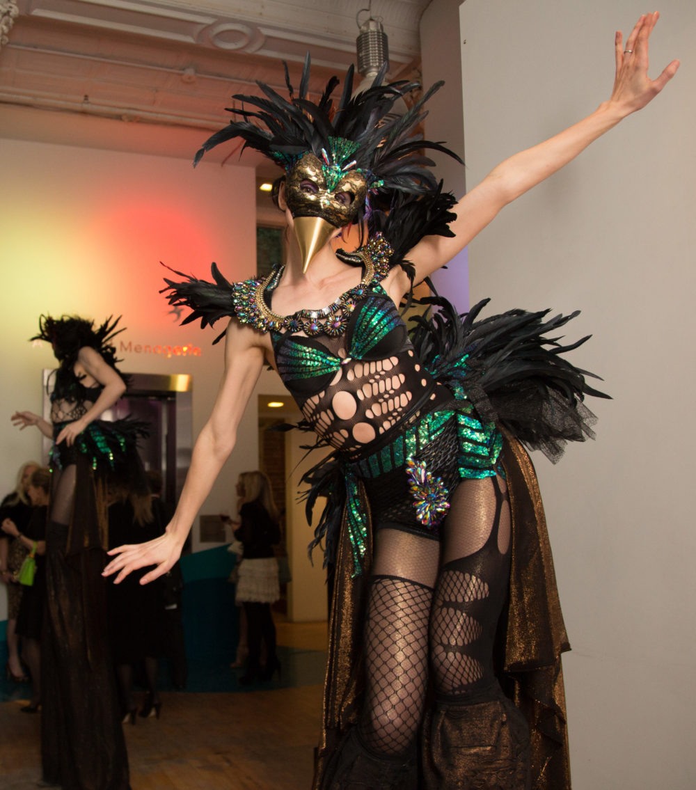 Live Birds, Will Cotton, and Male Models at the Tribeca Ball and Jeffrey Fashion Cares