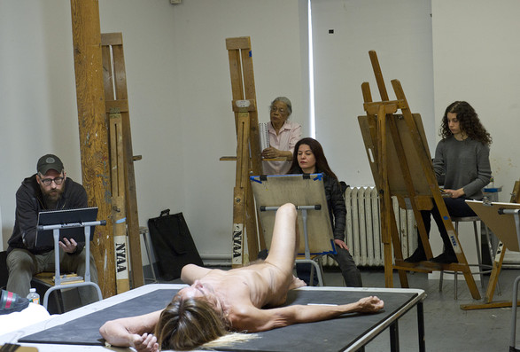 Iggy Pop Posed Nude at the New York Academy of Art for a Jeremy Deller Project