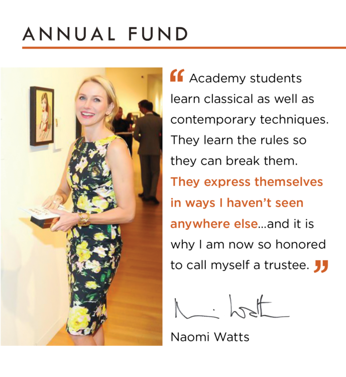 Naomi Watts Annual Fund Appeal 2016
