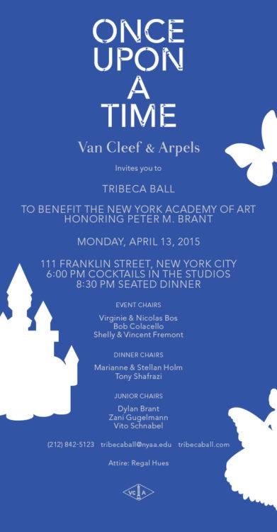 Tribeca Ball 2015 Evite