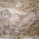 Silvered Relief Painting (running bird no. 2),