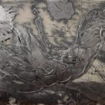 Silvered Relief Painting (running bird)