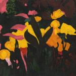 Omar Abbas (MFA 2017) Black Flower, 2016 oil on canvas 20 x 20 inches