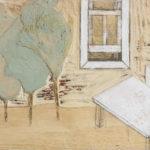 Tania Alvarez (MFA 2017) Hold Tight and Don't Let Go, 2016 acrylic, matte medium, graphite on birch plywood panel 5.5 x 14 inches