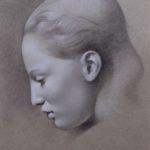 Craig Banholzer (MFA 2003) Maryssa, 2017 black and white chalk on paper 20 x 16 inches
