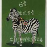 William Bolton (MFA 2006, Fellow 2007) Zebra?, 2016 oil on canvas 24 x 20 inches