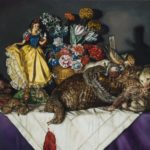 Cara De Angelis (MFA 2011) Snow White with a Laid Table of Roadkill, 2017 oil on linen 31 x 57 inches