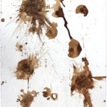 Matt Drissell (MFA 2007) 441 East First Street, 2017 walnut ink and crushed walnuts on Arches watercolor paper 30 x 22.25 inches
