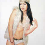 Heidi Elbers (MFA 2010) Reign, 2017 oil on canvas 36 x 24 inches