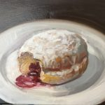 Theresa Kasun (MFA 1992) Jelly Donut, 2017 oil on canvas 8 x 10 inches