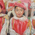 Mey-Mey Lim (MFA 1997) Emma, 2017 oil on wood panel 16 x 17 inches