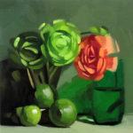 Dik F. Liu (Faculty) Green and Orange, 2016 oil on panel 12 x 12 inches