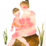 Ayumi Matsuba (MFA 2010) Mother and Child Sitting, 2017 watercolor on paper 10 x 7 inches