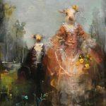 Susan Siegel (MFA 2010) Siblings, 2017 oil on panel 8 x 6 inches