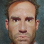 Jesse Stern (MFA 2012) Self-Portrait, 2017 oil on panel 24 x 18 inches