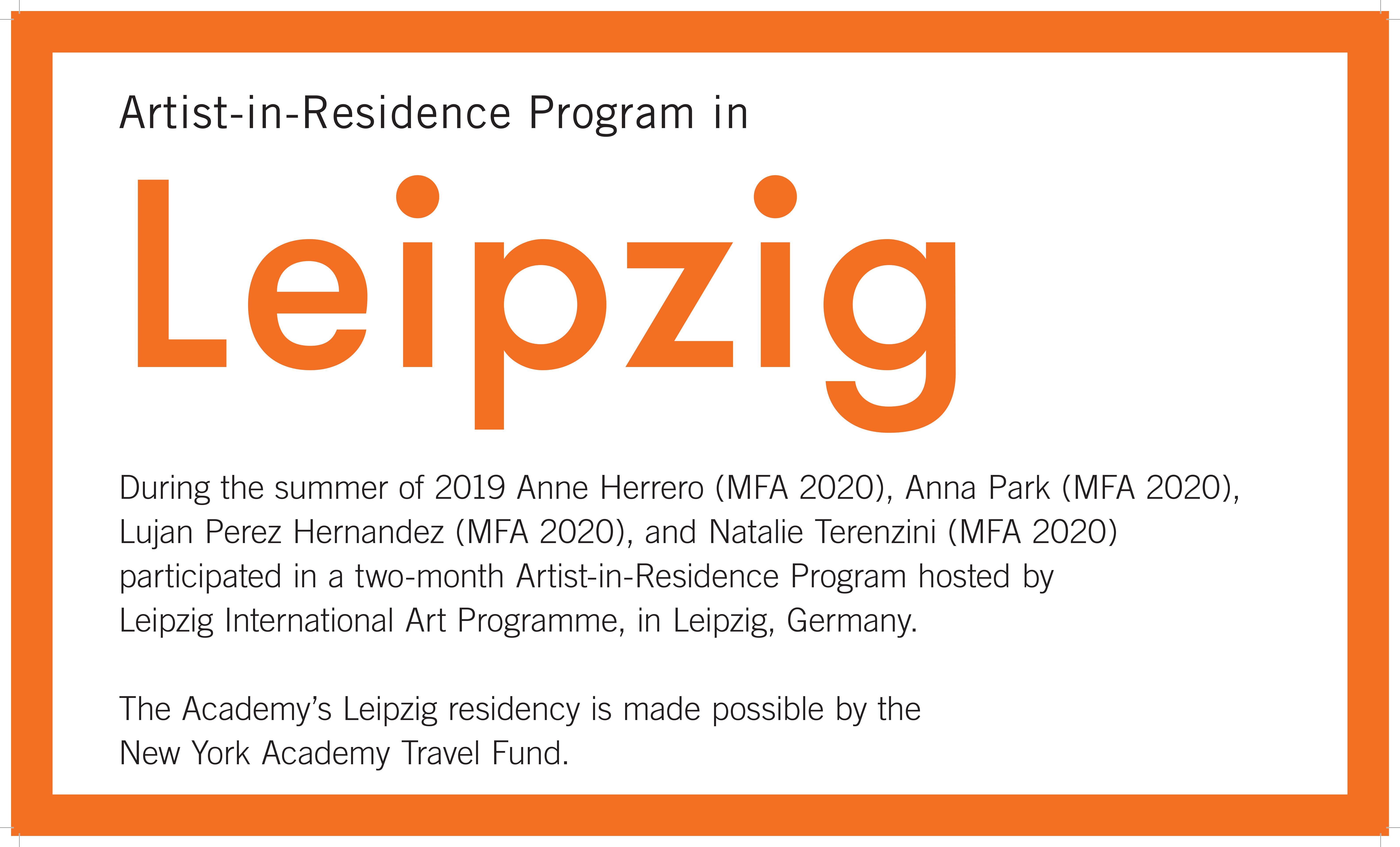 2019 Leipzig Residency Exhibition